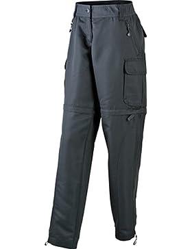 James & Nicholson Ladies' zip-off - Pantalones de acampada y senderismo para mujer