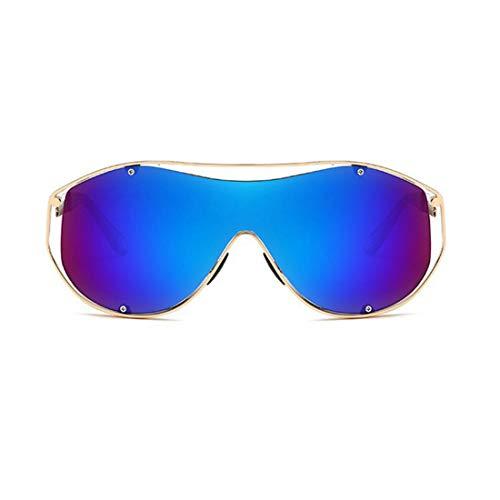 Polarisierte Sonnenbrille mit UV-Schutz Einteilige Objektiv Stil Dame Übergroßen Sport Sonnenbrille Metallrahmen PC Objektiv UV Schutz Sonnenbrille Für Männer Und Frauen Bunte Große Linse Fahren Sonne