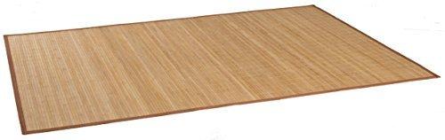 DE-COmmerce HIGHQ Bambus-Teppich Maß ca. 90 x 160 cm natur mit brauner Bordüre