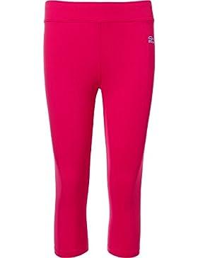 Sportkind Mädchen & Damen Tennis / Fitness / Sport 3/4 Leggings, pink, Gr. 158