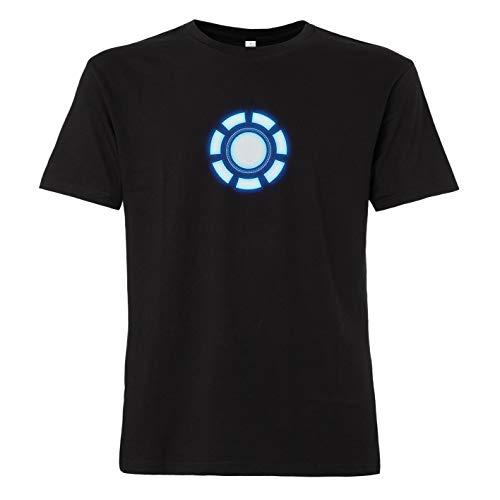 ShirtWorld - Arc Reactor - T-Shirt, Schwarz, (Iron Mann Kostüm Zu Arbeiten)