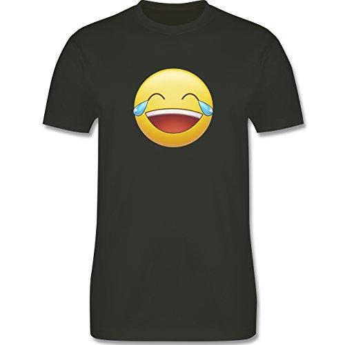 Statement Shirts - Tränen Lachen - Emoji - Herren Premium T-Shirt Army Grün