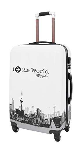 Fliege Die Welt Gedruckt 4 Rad Koffer Leicht Gepäck Eingebaut Sperren Reisetaschen (M) - Gepäck-sets Verkauf