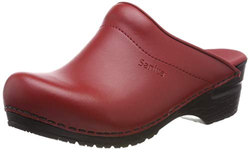 Sanita Damen Sonja PU Open Clogs, Rot (Red 4), 39 EU