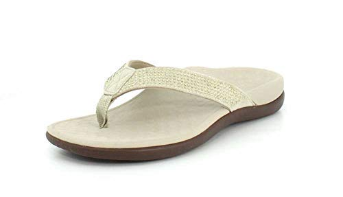68c68a00743d Vionic with Orthaheel Technology Womens Tide Rhinestone Toepost Sandal  Champagne Size 12