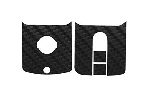 Seitronic® Carbon Key - Carbon Schlüsselaufkleber - Schlüssel Dekor - Schwarz, Weiß, Silber, Gold (29 Carbon Gold-Schwarz) (Carbon 350z)