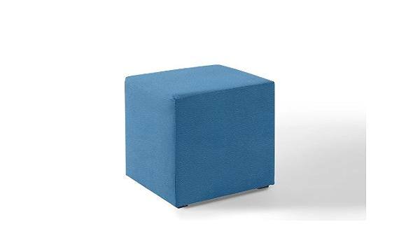 W/ürfel Hocker 45x45x45cm Kunstleder blau N9