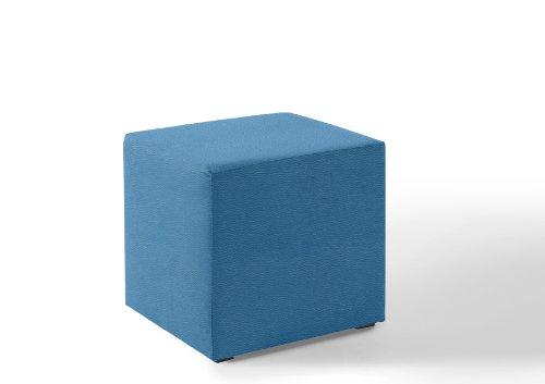 Würfel - Hocker 50x50x45cm Kunstleder blau N9