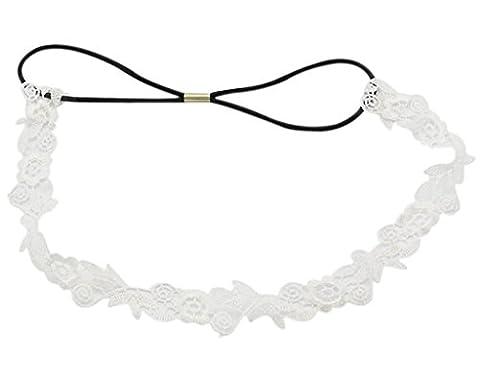 BONAMART ® Damen Elegant Hochzeit Braut Spitze Blumen Stoff Stirnband Haarband