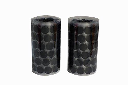 16mm Durchmesser 350 Paare Münzen Selbstklebend Kletthaken und Schlaufenstreifen Satz mit super klebrigen Rückseite Nylongewebe Reißverschluss magisches Klebeband,schwarz