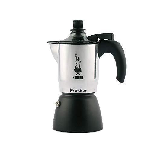Bialetti  Kremina, Caffettiera 3 Tazze, per Un Caffè con Una Soffice Crema Vellutata, Alluminio, Black, 30 X 20 X 15 cm, 1.0...