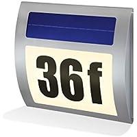 Esotec Wave 102035 - Lámpara solar con el número de la calle (luz blanca cálida)