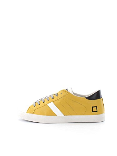D.A.T.E. HIKK LOW NAPPA A241 YELLOW SNEAKERS Uomo YELLOW 41