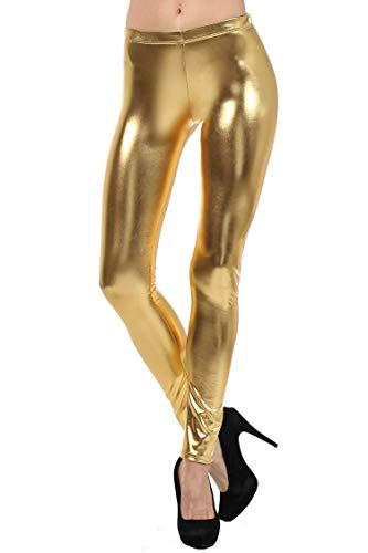 b4d61afc4f03a 61% Mpitude Women's Shiny Golden Leggings Lycra Leggings Shiny Leggings  Fancy Leggings Wet Look Liquid Metallic Leggings