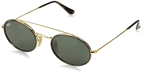 Ray-Ban Gafas de Sol OVAL DOUBLE BRIDGE RB 3847N GOLD GREY SHADED unisex 5aacf62450da