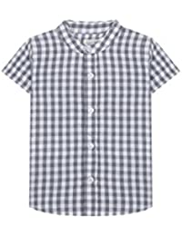 Gocco Camisa Manga Corta Cuadro para Bebés