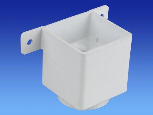 fallrohr halterung Wavin OSMA 4T823 weiß Rohrverbinder und Halterung für 61 mm Fallrohr quadratisch