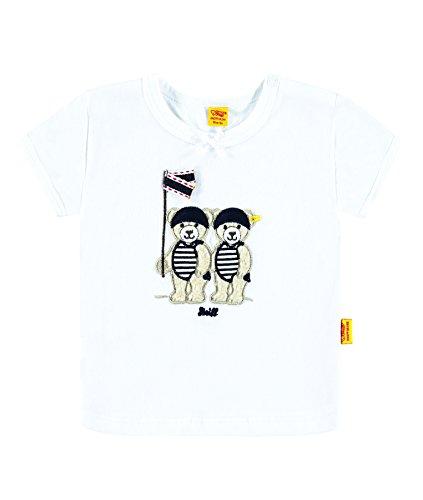 Steiff Collection Mädchen, T-Shirt, T-Shirt 1/4 Arm, Weiß (bright White 1000), - Piraten-mädchen-shirt