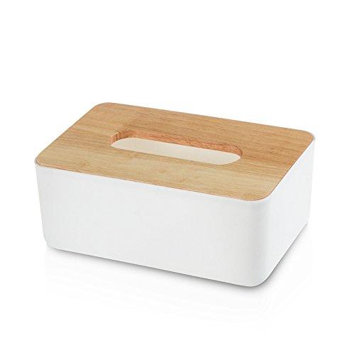 Aubess Abnehmbarer Tissue Rolle Papier Taschentuchbox aus Holz Home Bad Auto Tissue Box Container Handtuch Serviette Log Tissue Halter, Wood Color, 230 * 130 * 100mm (Log-servietten)