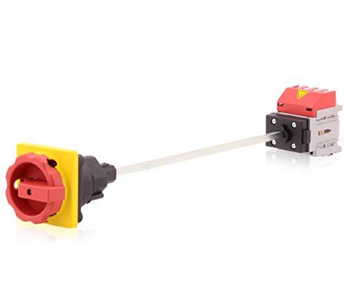 Hauptschalter Lasttrennschalter 4-polig 16A Bodenbefestigung Achsverlängerung Not-Aus-Schalter Premium Version VDE CE UL CSA -