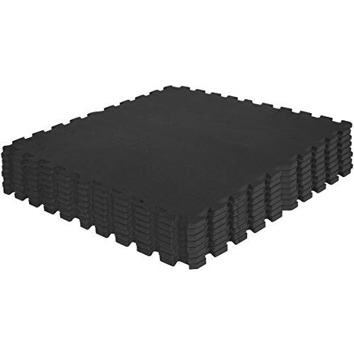 Gorilla Sports Tappetino Protettivo–Set di 8Tappetini Puzzle/Sport Della 60x 60cm, nero