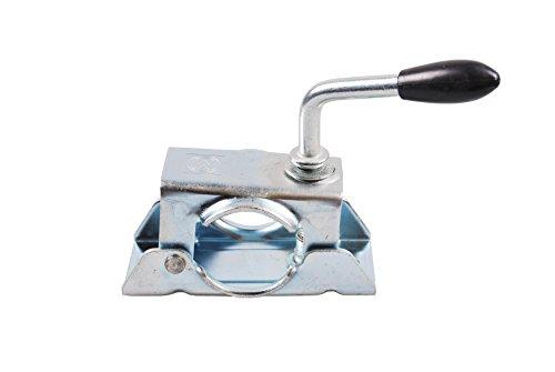 Ciondolo-timone-Winterhoff-Ruotino-di-sostegno-supporto-morsetto-48-mm--con-colletto-zincato-argento