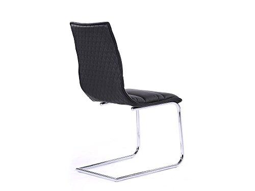 MILANO Freischwinger Esszimmerstuhl Schwingstuhl Stuhl schwarz - 2