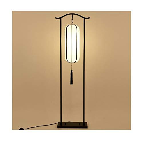 WQQ Schreibtischlampen Stehleuchte Wohnzimmer Schlafzimmer Studie Tee Raum Antike LED Stoff Vertikale Lampe Chinesische Klassische Einfache
