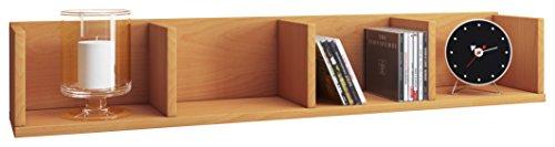VCM Wandregal Regal Hängeregal Wandboard Hängeboard Bücherregal Sammlerregal Holz Buche 15 x 97 x 17 cm Honsa Buche Bücherregal