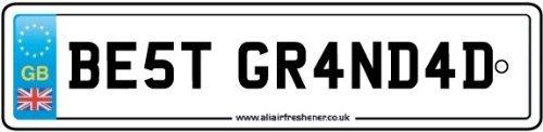 BEST GRANDAD LICENSE PLATE CAR AIR FRESHENER