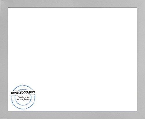 Farbe Klar (Bonanza Bilderrahmen mit Acrylglas klar 1 mm 75 x 50 cm Holzwerkstoff in vielen verschiedenen Farben 50 x 75 cm Farbwahl hier: Silber matt)