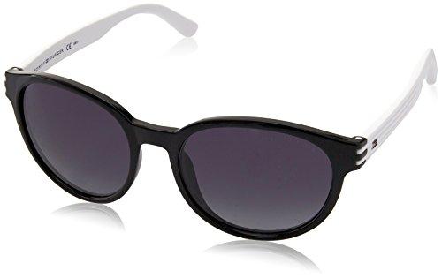 Tommy hilfiger th 1279/s hd fgk 54, occhiali da sole unisex-adulto, nero (black mtwhte/grey sf)