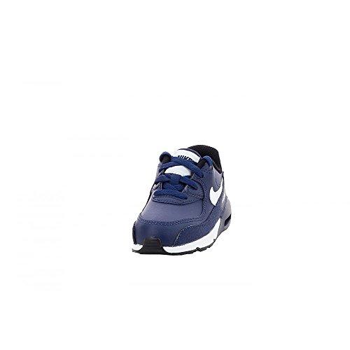 Nike - Air Max 90 Ltr (Td), Scarpe da ginnastica Unisex – Bimbi 0-24 Blu / Bianco / Nero (Midnight Navy / White-Black)