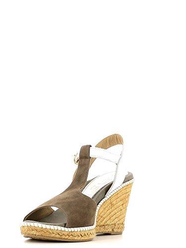 KEYS 5165 Sandalo zeppa Donna Tortora