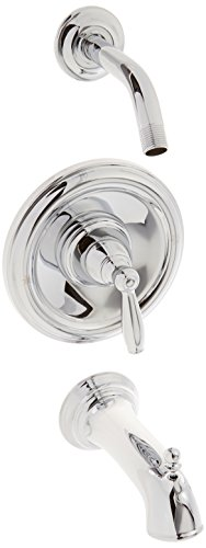 Moen T62153NH Brantford Mischbatterie für Wanne/Dusche, Chrom (Wanne Dusche Moen)