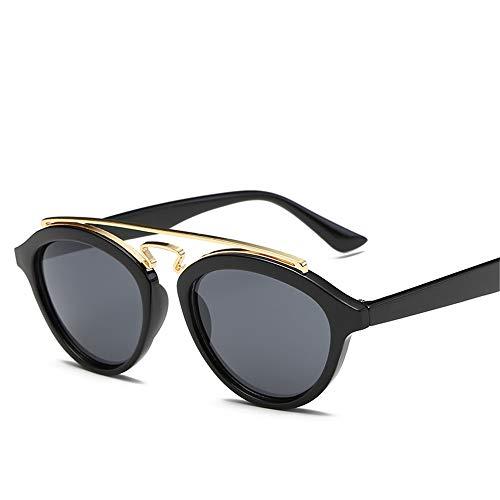 DURIAN MANGO Herren und Damen Universal Sonnenbrillen Circle Frame Fashion Individuelle Sonnenbrillen,Black