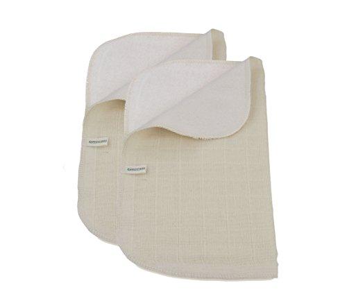 Verde fibras Juego 2Algodón Orgánico toalla cara