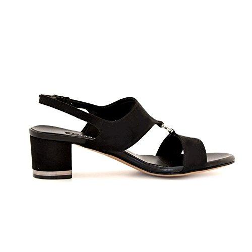 Sandali Albano camoscio nero Nero