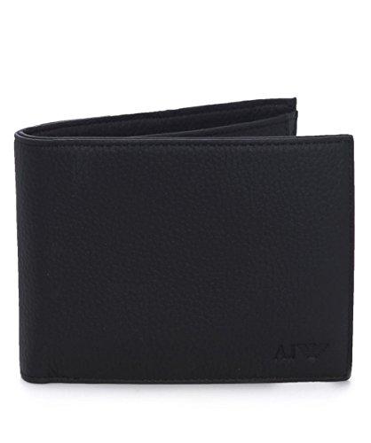 Armani Jeans monedero cartera hombre piel nuevo negro