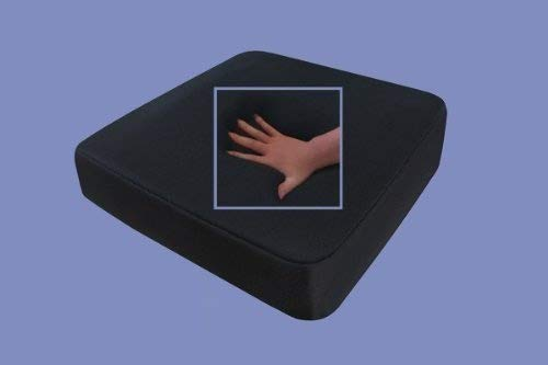 Gel/Gelschaum Sitzkissen/Anti Dekubitus Sitzpolster 40 x 40 x 10 cm SCHWARZ für Rollstuhl/Stuhl/Auto/LKW/Bürostuhl/Chefsessel Kissen Stützkissen Rücken + Gesäß (RG 65 (weich))