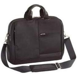 TARGUS 39,6cm 15,6Zoll Leather Laptop Slipcase Nylon and Oil Tanned Leather black (Notebook Leather Targus Case)