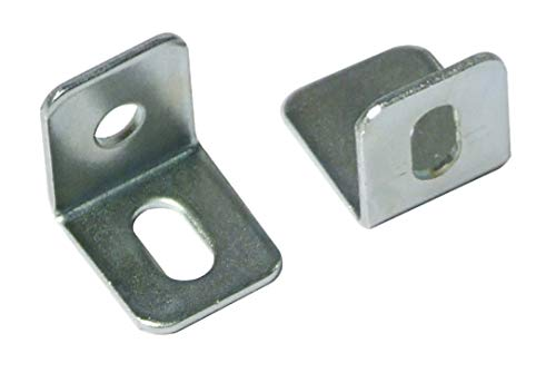 Stahl Brust-tool-box (15x 15x 15mm Winkelkonsole, Zink Plated Baustahl High Qualität x50)