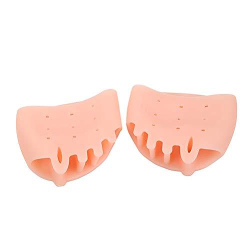 Frcolor 1 paio di piedi separatore raddrizzatore borsite correttore ortopedico rilievo del piede per alluce valgo martello dita (rosa)