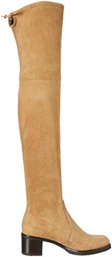 Buffalo London Damen 2865 Micro Strech Langschaft Stiefel Beige (ROBLE 01)