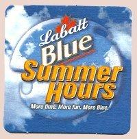 labatt-brewing-company-labatt-blue-summer-hours-paperboard-coasters-set-of-4-by-labatt-brewing-compa