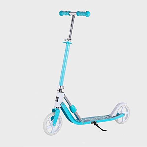 QFFL huabanche Scooter Scooter para Dos Ruedas para Principiantes Scooter Plegable para niños 3-12 años Bloque Deslizante 2 Colores Opcional (Color : B)
