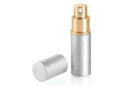 Vaporisateur parfum sac laser argent strass Novex