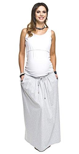 Umstandsrock, Schwangerschaftsrock MADI, Rock für Schwangere von Torelle, hochwertige Baumwolle! Hellgrau S