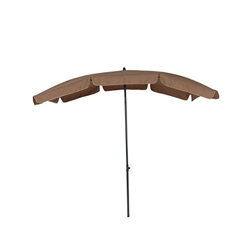 greemotion Sonnenschirm mit UV-Schutz - Balkonschirm in Taupe-Grau - Gartenschirm knickbar - Terrassenschirm rechteckig - Outdoor-Schirm für Balkon, Terrasse & Garten