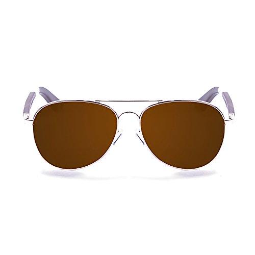 Ocean paloalto Sunglasses San Diego Sonnenbrille Unisex Erwachsene, Shiny Gold Metal/Wood